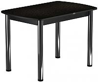 Обеденный стол Васанти Плюс БРП 100x60/3/ОК (хром/коричневый) -