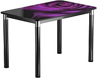 Обеденный стол Васанти Плюс Классик 120/178x80/ОЧ (черный/хром/99) -