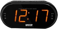 Радиочасы Mystery MCR-69 (черный/янтарь) -
