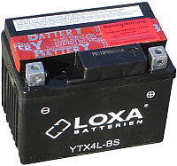 Мотоаккумулятор Loxa YTX4L-BS (3 А/ч) -