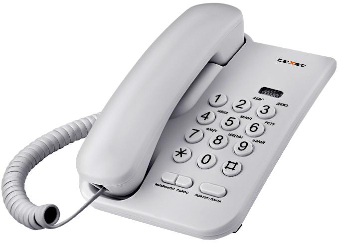 Проводной телефон Texet TX-212 Light Gray Свислочь Продажа товаров