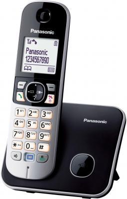 Беспроводной телефон Panasonic KX-TG6811 (черный) - общий вид