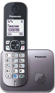 Беспроводной телефон Panasonic KX-TG6811 (серый металлик) - общий вид