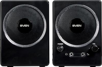 Мультимедиа акустика Sven 247 (черный) - вид спереди