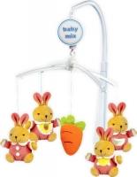 Мобиль на кроватку Baby Mix 708M (зайки с морковкой) -