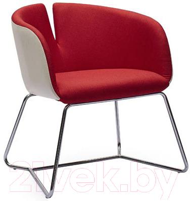 Кресло мягкое Halmar Pivot (белый/красный)