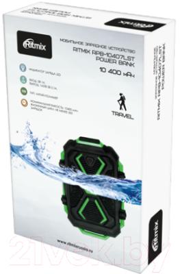 Портативное зарядное устройство Ritmix RPB-10407LT (черный/зеленый)