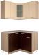 Готовая кухня Интерлиния Мила 12x12 (ваниль/дуб венге) -