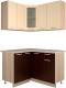 Готовая кухня Интерлиния Мила 12x13 (ваниль/дуб венге) -