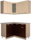 Готовая кухня Интерлиния Мила 12x14 (ваниль/дуб венге) -