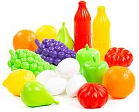 Набор игрушечных продуктов Полесье Набор продуктов №6 / 47014 (19эл, в сеточке) -