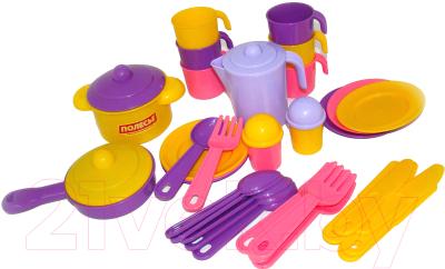 Набор игрушечной посуды Полесье Настенька на 6 персон / 3933