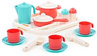 Набор игрушечной посуды Полесье Настенька с подносом на 3 персоны / 3957 -
