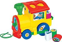 Развивающая игрушка Полесье Занимательный паровоз / 6189 (в сеточке) -