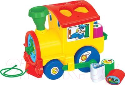 Развивающая игрушка Полесье Занимательный паровоз / 6189 (в сеточке)