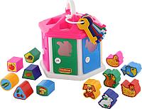 Развивающая игрушка Полесье Логический домик / 6196 (в сеточке) -