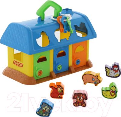 8ea76db45ade Полесье Домик для зверей / 9166 (в сеточке) Развивающая игрушка купить в  Минске