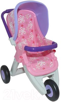 Коляска для куклы Полесье Прогулочная №2 3 колеса / 48141 (в пакете)