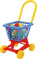Тележка игрушечная Полесье Supermarket №1 с набором продуктов / 42989 (в сеточке) -