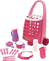 Набор игрушечной посуды Полесье Забавная с набором детской посуды / 44389 (31эл) -