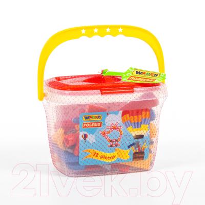 Набор инструментов игрушечный Полесье №1 / 47151 (72эл, в ведерке)