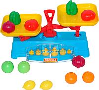 Весы игрушечные Полесье Весы с набором продуктов / 53787 (12эл, в сеточке) -