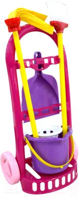 Набор хозяйственный игрушечный Полесье Чистюля-мини / 44747 (в сеточке)
