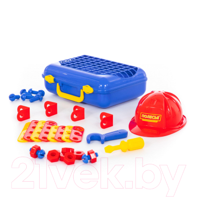 Набор инструментов игрушечный Полесье Механик №2 / 43184 (31эл, в чемодане)