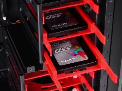 Корпус для компьютера Deepcool Kendomen RD / DP-CCATX-KDM5FBKRD (черный/красный)
