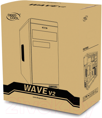 Корпус для компьютера Deepcool Wave V2 / DP-MATX-DPWAVE2 (черный)