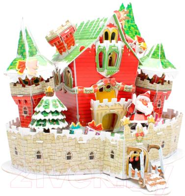 Сборная модель CubicFun Сказочный рождественский замок с подсветкой (P646h)