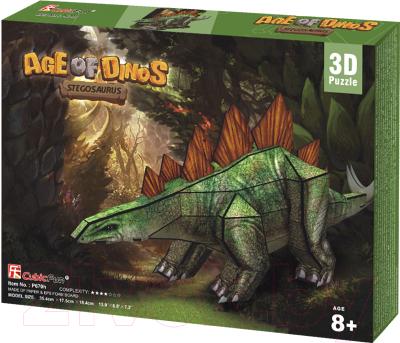 Сборная модель CubicFun Эра Динозавров. Стегозавр (P670h)