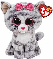 Мягкая игрушка TY Beanie Boo's Кошка Kiki серая / 37190 -
