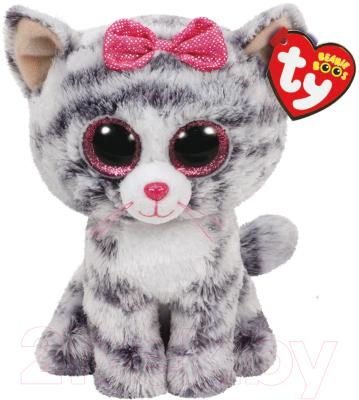 Мягкая игрушка TY Beanie Boo's Кошка Kiki серая / 37190