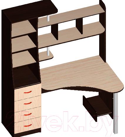 Купить Компьютерный стол Мебель-Класс, Символ (венге/дуб шамони, левый), Беларусь