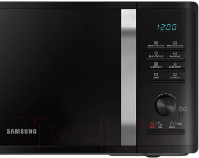 Микроволновая печь Samsung MG23K3575AK (MG23K3575AK/BW) - панель