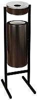 Урна уличная Титан Мета СЛП250 (черный) -