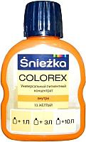Колеровочный пигмент Sniezka Colorex 13 (100мл, желтый) -