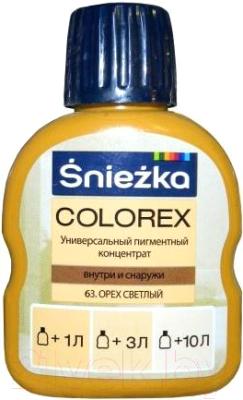 Колеровочный пигмент Sniezka Colorex 63 (100мл, орех светлый)