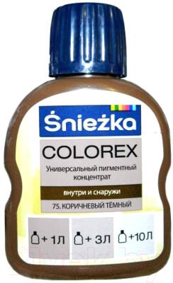 Колеровочный пигмент Sniezka Colorex 75 (100мл, темно-коричневый)
