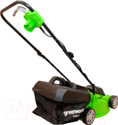 Газонокосилка электрическая Greenworks GLM1232 (2502207)