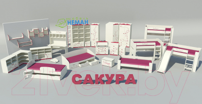 Шкаф Мебель-Неман Сакура ШУ-1-Л-Д0