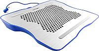 Подставка для ноутбука Crown CMLC-1001 (серебристый/синий) -
