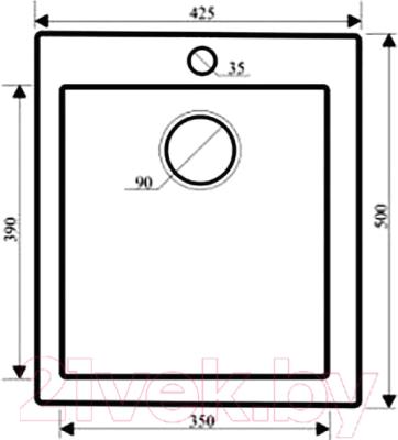 Мойка кухонная Granula GR-4201 (шварц)