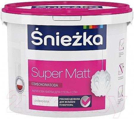 Купить Краска Sniezka, Super Matt (10л, белоснежный), Польша, белый