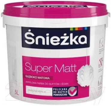 Купить Краска Sniezka, Super Matt (5л, белоснежный), Польша, белый