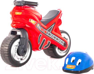 Каталка детская Полесье Мотоцикл МХ со шлемом / 46765