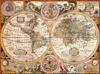 Пазл Clementoni Старая карта 33531 (3000эл)