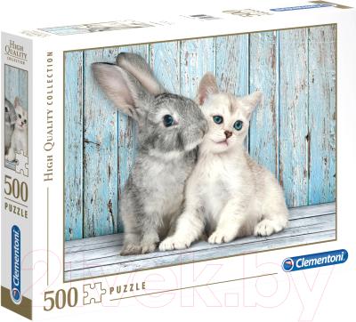 Пазл Clementoni Котенок и кролик 35004 (500эл)