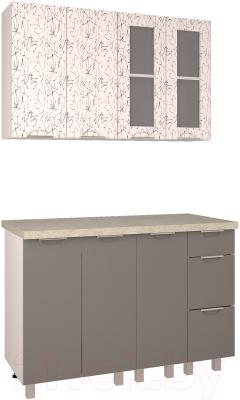 Готовая кухня Интерлиния Арт Мила 12 (арт графит)